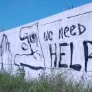 Graffiti - We Need Help - Photographer Tim Mansell ©