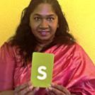 Rani Moorthy in a Sari