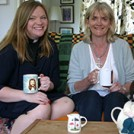 Kate Bottley and Alison Hilliard on the Gogglebox sofa