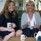 Kate Bottley and Alison Hilliard on the Gogglebox sofa