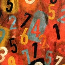 A colourful painting of numbers