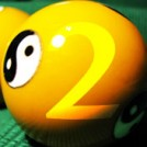 A pool ball with the yin-yang symbol and the number 2