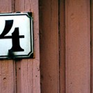 A number 4 house sign