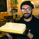 Ali Imdad with some cake